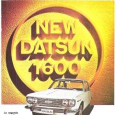 Collectionnisme d'affiches: PUBLICIDAD 1968 HOJA REVISTA ANUNCIO COCHE AUTOMÓVIL DATSUN 1600 DE NISSAN MOTOR. Lote 146355622