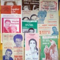 Coleccionismo de carteles: LOTE 11 PROGRAMAS DE TEATRO ISABEL LA CATÓLICA. Lote 147175506