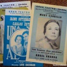 Coleccionismo de carteles: LOTE 3 PROGRAMAS DEL GRAN TEATRO CÓRDOBA. Lote 147177290