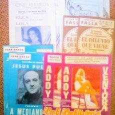 Coleccionismo de carteles: LOTE 10 PROGRAMAS DE TEATRO LOLA FLORES JESÚS PUENTE .... Lote 147177974