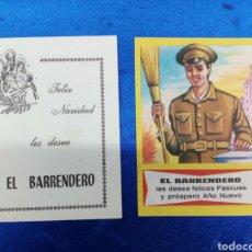 Coleccionismo de carteles: 2 FELICITACIONES DE EL BARRENDERO. Lote 147215377