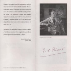 Coleccionismo de carteles: LIBRETO DE EXPOSICIÓN DE OBRAS DE ENRIC C RICART EN GALERIAS ISMES DE VILANOVA Y GELTRÚ. AÑO 2010. Lote 147903202