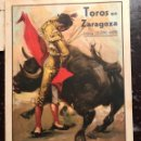 Coleccionismo de carteles: PROGRAMAS TOROS FIESTAS DEL PILAR. ZARAGOZA. 1935. Lote 147912818