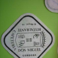 Coleccionismo de carteles: CARTELITO O POSA VASOS CON PUBLICIDAD. CÓRDOBA. Lote 147932474