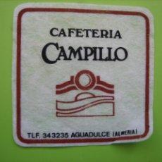 Coleccionismo de carteles: CARTELITO O POSA VASOS CON PUBLICIDAD.ALMERIA. Lote 147933666
