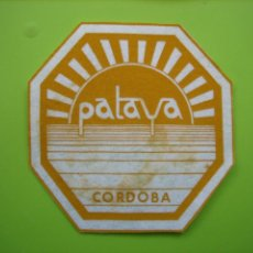 Coleccionismo de carteles: CARTELITO O POSA VASOS CON PUBLICIDAD. CÓRDOBA. Lote 147934294