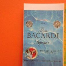 Coleccionismo de carteles: PUBLICIDAD - RON BACARDI - TAMAÑA 10.5 X 21 CM. Lote 148016494