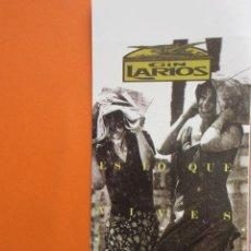 Coleccionismo de carteles: PUBLICIDAD - GIN LARIOS - TAMAÑO 10.5 X 21 CM. Lote 148016534