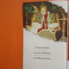 Coleccionismo de carteles: PUBLICIDAD - CERVEZA CURZCAMPO TODO UN TIPO - TAMAÑO 10.5 X 21 CM. Lote 148016574