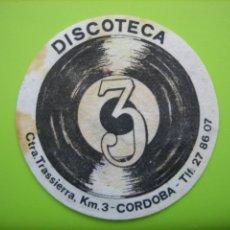 Coleccionismo de carteles: CARTELITO O POSAVASOS CON PUBLICIDAD. CORDOBA. Lote 148094602