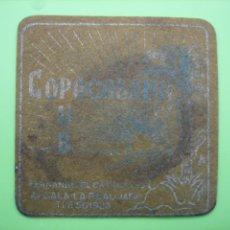 Coleccionismo de carteles: CARTELITO O POSAVASOS CON PUBLICIDAD. . Lote 148095002