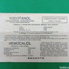 Coleccionismo de carteles: TARJETA PUBLICITARIA 1926. Lote 148141097