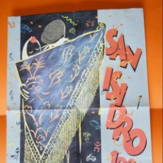 Coleccionismo de carteles: SAN ISIDRO 1988 - CARTEL PROGRAMA DE FIESTAS DE MADRID - CAMARON, COCKER, COHEN, MORRISON, ZAPPA. Lote 148152570