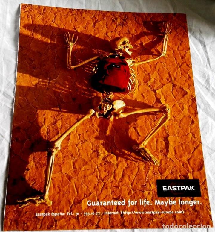 Antigua publicidad de EASTPAK - 28x21,5cm. - Extraído de revista. segunda mano