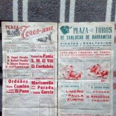 Coleccionismo de carteles: 2 CARTELES TOROS SANLUCAR 1964 Y JEREZ 1971. Lote 149530261