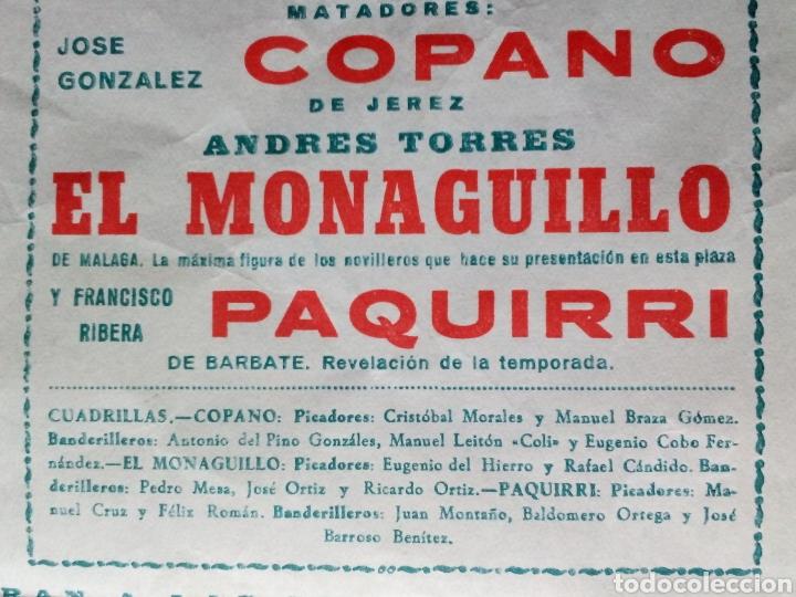 Coleccionismo de carteles: 2 Carteles Toros Sanlucar 1964 y Jerez 1971 - Foto 4 - 149530261