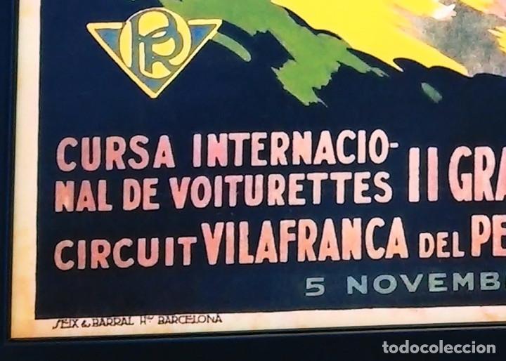 Coleccionismo de carteles: Cuadro decoración vintage 43 x 33 cm # Publicidad cartel Carrera Coches Penya Rhin # 1922 - Foto 2 - 149623569