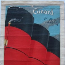 Coleccionismo de carteles: CARTEL ANTIGUO CRUCEROS CUNARD USA. Lote 152604044