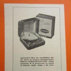 Coleccionismo de carteles: PUBLICIDAD 1949 - COLECCION ELECTRONICA - REMINGTON RAYA AZUL AFEITADO. Lote 150235742