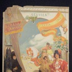 Coleccionismo de carteles: CARTEL SEMANA SANTA SEVILLA. 1913. FESTEJOS PRIMAVERAS. Lote 150763565