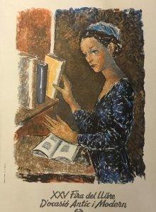 1976 Pere Pruna. XXV Fira del Llibre de Barcelona d'ocasió antic i modern 22,5x34,5 cm
