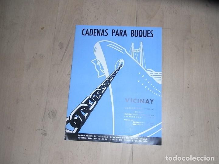 CARTEL DINA4, CADENAS PARA BUQUES, VICINAY (Coleccionismo - Carteles Pequeño Formato)