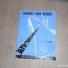 Collectionnisme d'affiches: CARTEL DINA4, CADENAS PARA BUQUES, VICINAY. Lote 151927394