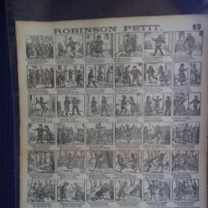 Coleccionismo de carteles: AUCA/ ALELUYA SUCESOR DE A BOSCH Nº 69 ROBINSON PETIT. Lote 151953934