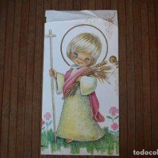 Colecionismo de cartazes: RESERVADA LÁMINA CHOCOLATE ELGORRIAGA. JOSÉ LUIS LÓPEZ. NIÑO CON CRUZ,TRIGO Y CORONA. PAJARITO.. Lote 153271238