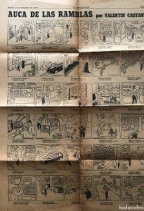 1953 Auca de las Ramblas por Valentin Castanys 44,1x60 cm