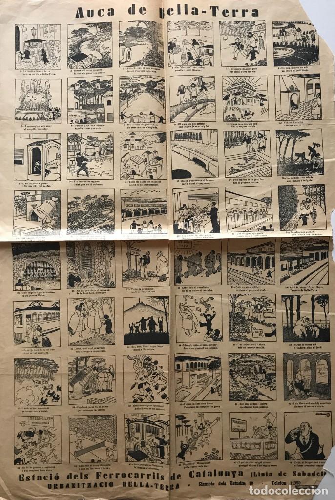 AUCA DE BELLA -TERRA 65X44,4 CM (Coleccionismo - Carteles Pequeño Formato)