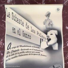 Colecionismo de cartazes: CARTEL LA SUBASTA DE LAS PULGAS EN EL GANXO. DR. CÁSPULO. MIRINDA. VALENCIA. FRANCO.. Lote 155238720