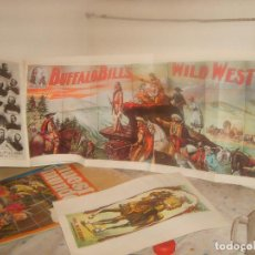 Coleccionismo de carteles: 100 POSTERS OF BUFFALO BILL WILD WEST. 1976. 112 PGNS. 28X40,5 CMS. PÓSTER CENTRAL 95X40 CMS.. Lote 155498426