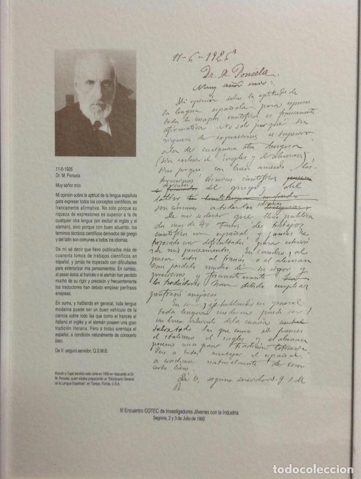 Coleccionismo de carteles: Láminas de recuerdos de científicos españoles. Con cristal+marco metálico, a elegir entre 4 modelos. - Foto 2 - 155867582