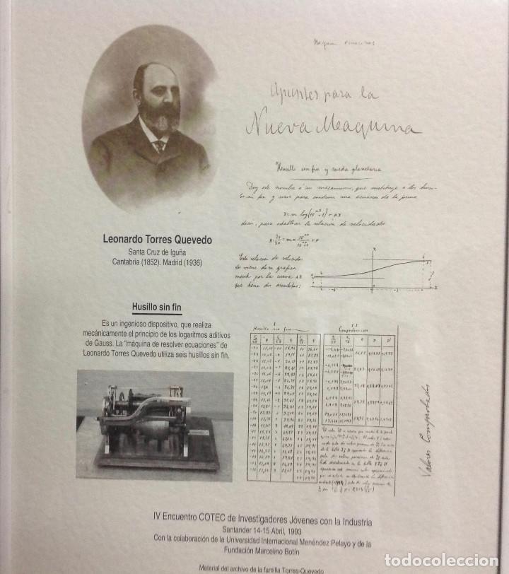 Coleccionismo de carteles: Láminas de recuerdos de científicos españoles. Con cristal+marco metálico, a elegir entre 4 modelos. - Foto 3 - 155867582