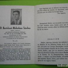 Coleccionismo de carteles: ESTAMPA ANTIGUA RELIGIOSA.FUNERAL. BARTOLOME MOHEDANO SÁNCHEZ. ESTEPONA 1966. Lote 155994790
