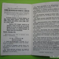 Coleccionismo de carteles: ESTAMPA ANTIGUA RELIGIOSA.FUNERAL. ENCARNACION RAMIREZ GARCIA. ARJONILLA 1955 . Lote 155995178