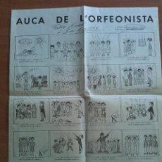 Coleccionismo de carteles: 1964 AUCA DE L ´ORFEONISTA . Lote 156013570
