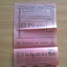 Coleccionismo de carteles: 1938 TEATRO PRINCIPAL DE MANACOR - TRES GRANDES FUNCIONES / MANACOR , MALLORCA. Lote 156157001