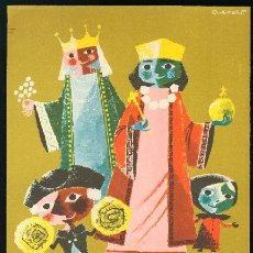 Coleccionismo de carteles: BARCELONA 1959 CARTEL FIESTAS DE LA MERCED - ARNALOT - TAMAÑO: 22 X 31 CM. Lote 156637330