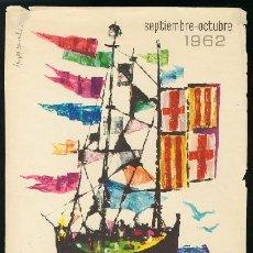 Coleccionismo de carteles: BARCELONA 1962 - CARTEL FIESTAS DE LA MERCED. Lote 156641070