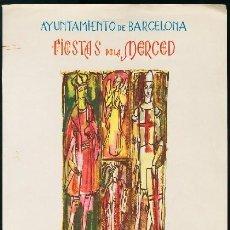 Coleccionismo de carteles: BARCELONA 1962 - CARTEL FIESTAS DE LA MERCED. II CICLO DE TEATRO MEDIEVAL - ALBORS. Lote 156641350