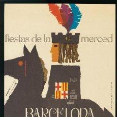 Coleccionismo de carteles: BARCELONA 1964 - CARTEL FIESTAS DE LA MERCED - BARBA. Lote 156642118