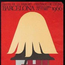 Coleccionismo de carteles: BARCELONA 1966 - CARTEL FIESTAS DE LA MERCED - RAMÓN RIBAS. Lote 156642694