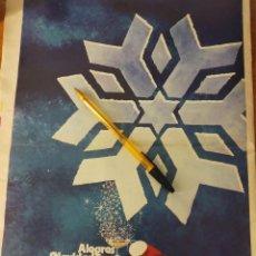 Coleccionismo de carteles: CAJA PROVINCIAL DE AHORROS DE GRANADA, PUBLICIDAD FELICITACION NAVIDEÑA 1977.. Lote 158199058