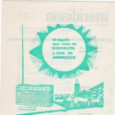 Coleccionismo de carteles: HOJA PUBLICIDAD REVISTA ANTIGUA, TELEFUNKEN. Lote 158427898