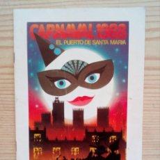 Coleccionismo de carteles: CARNAVAL 88 - EL PUERTO DE SANTA MARIA. Lote 160374510
