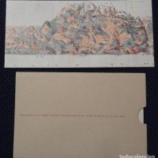 Coleccionismo de carteles: MAPA PANORAMA SIERRA NEVADA DE FRANK PFENDLER D'OTTENSHEIM Y POSTAL (CONMEMORATIVOS EXPOSICION 1995). Lote 161600926
