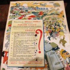 Coleccionismo de carteles: CURIOSO PEQUEÑO CARTEL PUBLICIDAD URBANITZACIO BELLA TERRA BELLATERRA CERDANYOLA 29 / 19 CM AÑOS 30 . Lote 161724854