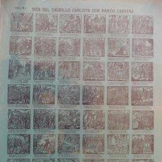 Coleccionismo de carteles: AUCA ALELUYA VIDA DEL CAUDILLO CARLISTA DON RAMON CABRERA SUCESORES DE HERNANDO. Lote 162559678